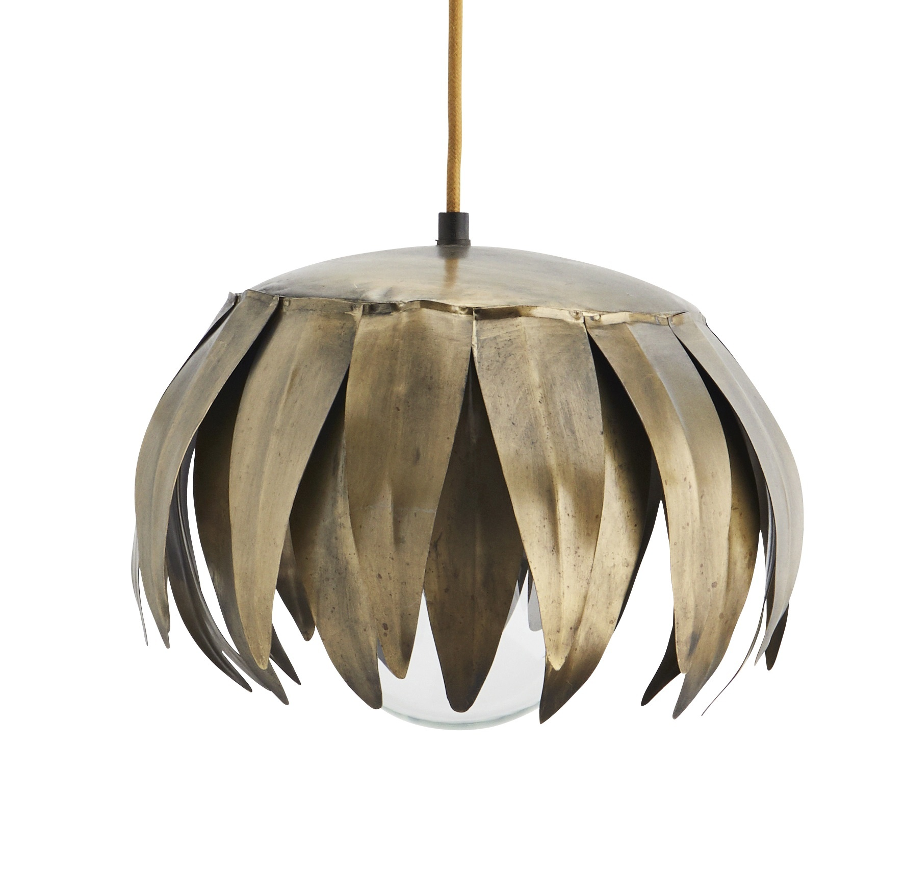 Madam Stoltz ceiling lamp Leaf, brass