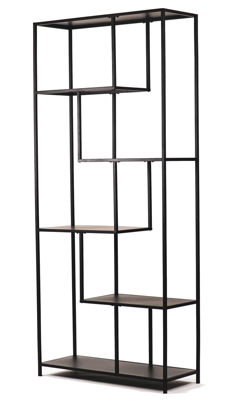 black metal open rack cabinet