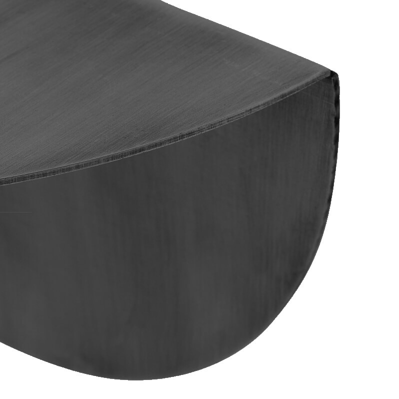Stoer Metaal round wall shelf Taco, black