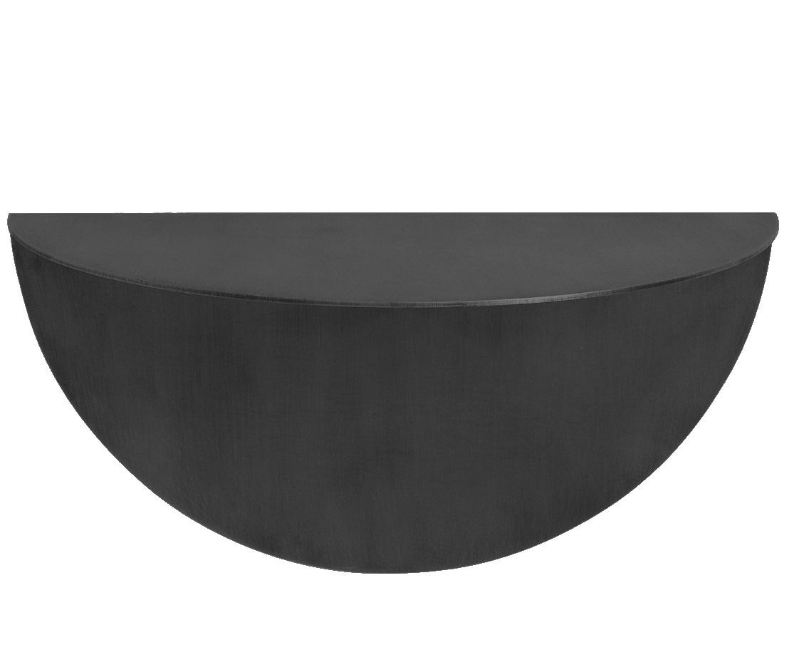 Stoer Metaal ronde, wandplank Taco, zwart
