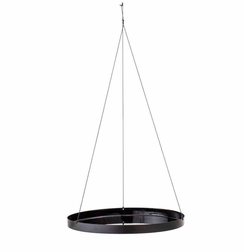 Bloomingville hanging tray, round Asef, black