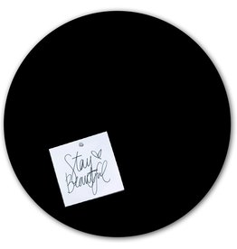Groovy Magnets chalkboard magnet sticker,  round XL, black