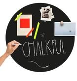 Groovy Magnets chalkboard magnet sticker,  round XL, black