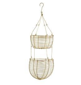 Madam Stoltz hanging baskets, gold
