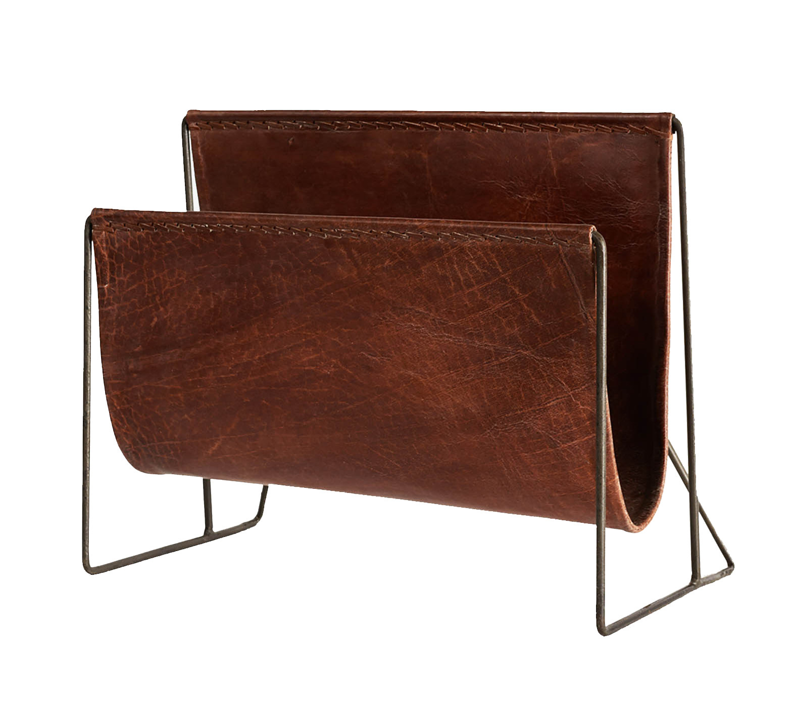 New Routz magazine rack  with leather