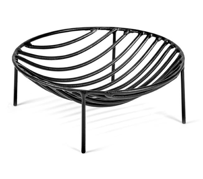 Serax basket Nana, round, black