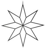 Nordal iron star, metal star Irony