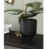 House Doctor plantenpot Jang  op pootjes, zwart