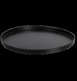 Metalen blad, tray, zwart