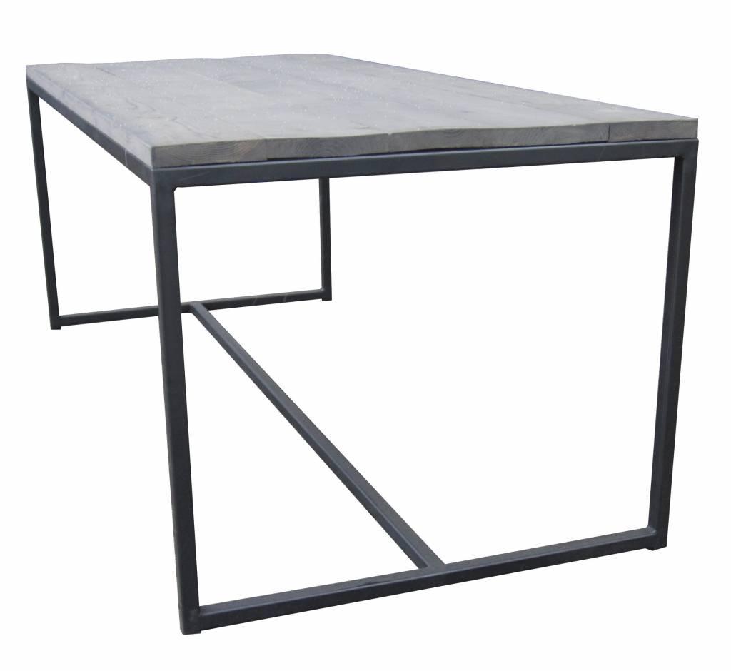 Metalen Onderstel Voor Tafel.Eettafel Stoer14 Metalen Frame