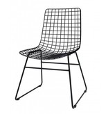 HKliving Wire chair, black