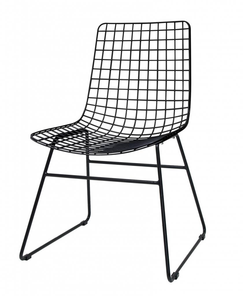 HK Living stoel Wire, zwart