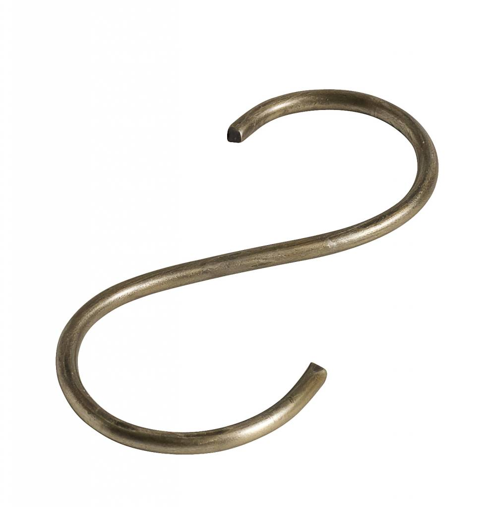 Nordal S-hook, thin, gold