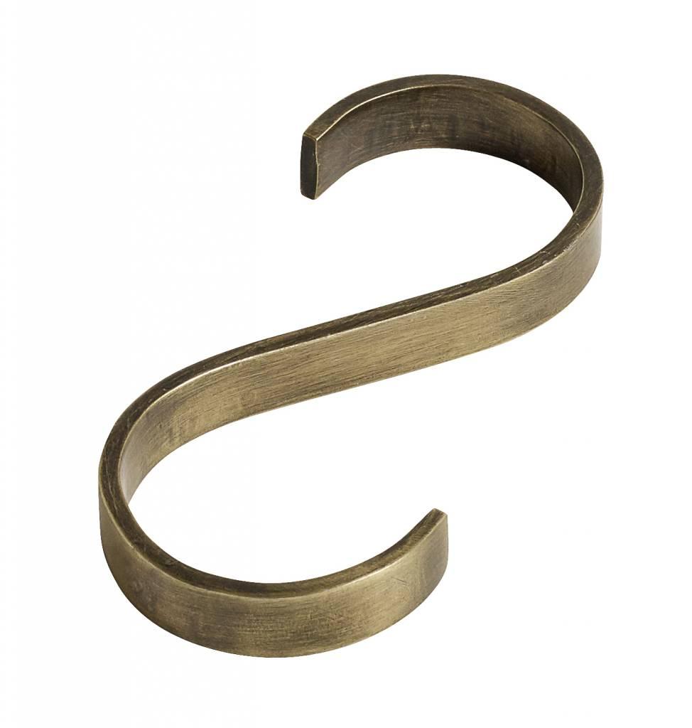 Nordal hook, S-shape, golden