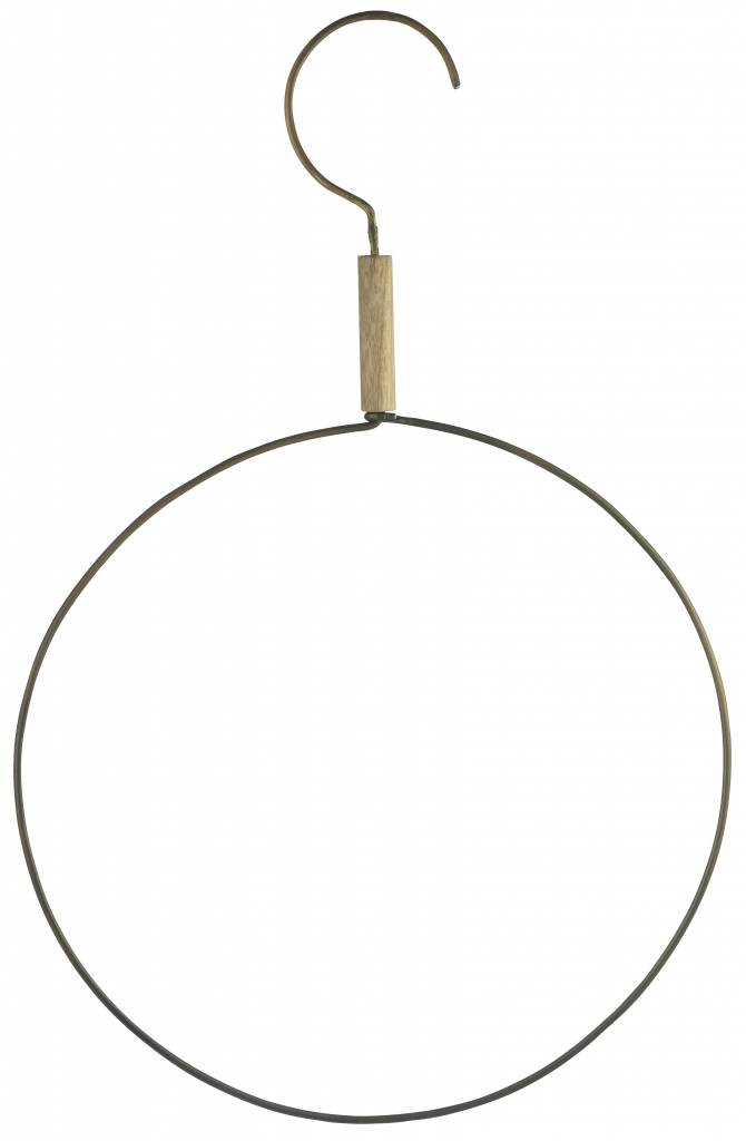 Madam Stoltz Hook with ring, XL-pendant, old gold