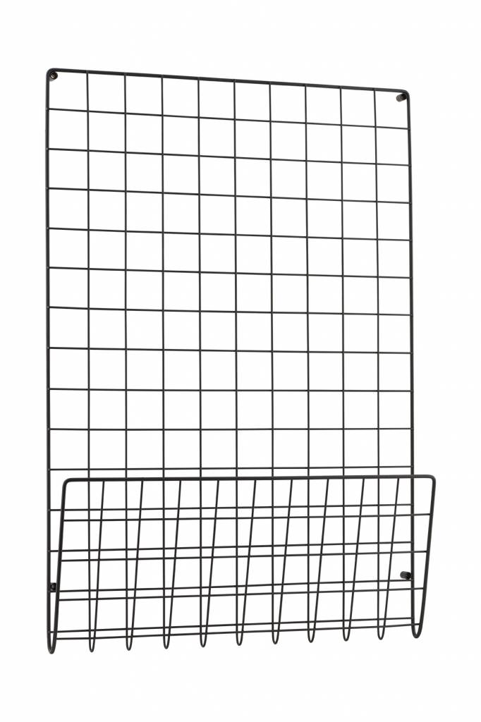 House Doctor wandrack mesh, black