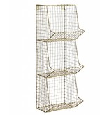 Madam Stoltz wall rack, 3 compartments, old gold