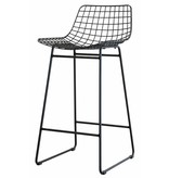 HKliving barstool wire, wire steel, black