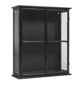 Nordal display case, black, 60 cm high