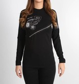 Icelus Clothing Zipper Longsleeve Black Women