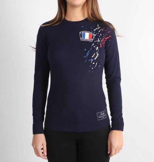 c486af41b28e12 Icelus Clothing Paint Longsleeve Blue Women