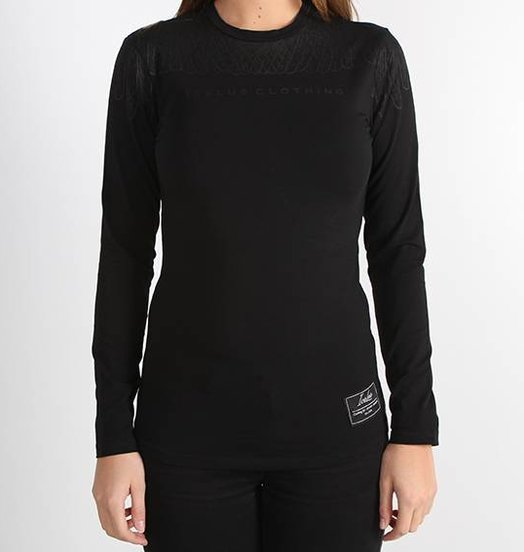 Icelus Clothing Wing Longsleeve Black/Black Women