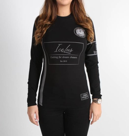 Icelus Clothing Football Jersey Black Women