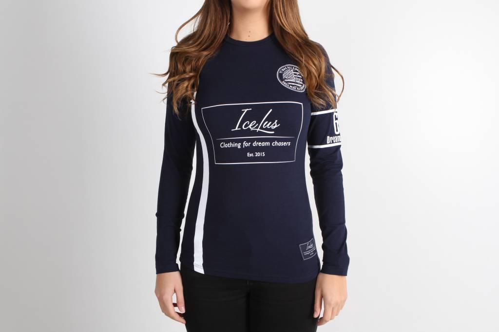 Icelus Clothing Football Jersey Blue Women Icelus Clothing
