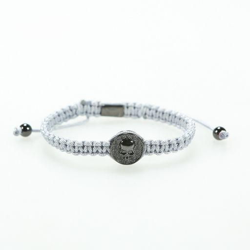 Icelus Clothing Grey Skull Bracelet