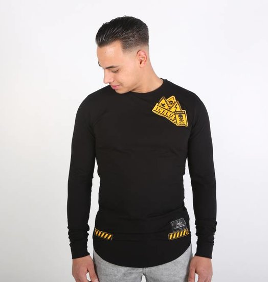 Icelus Clothing Danger Long Sleeve Black
