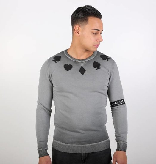 Icelus Clothing Casino Sweater Gray