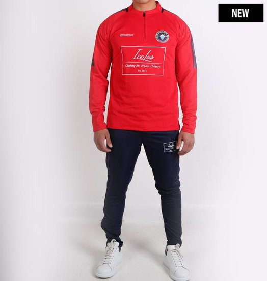 Icelus Clothing Football Tracksuit Red