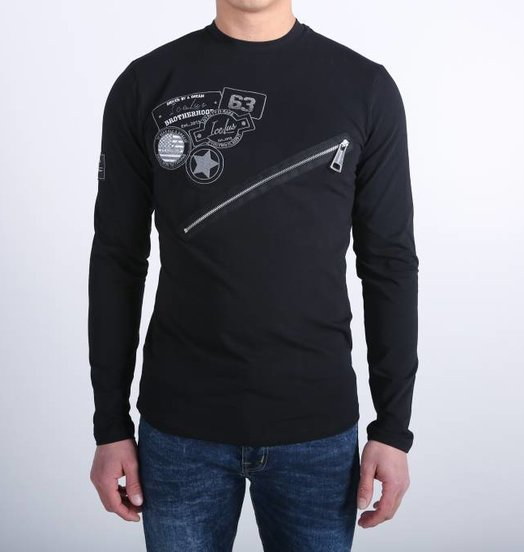 Icelus Clothing Zipper Longsleeve Black