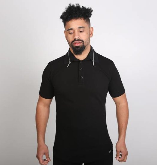 Icelus Clothing Zip Polo T-Shirt Black