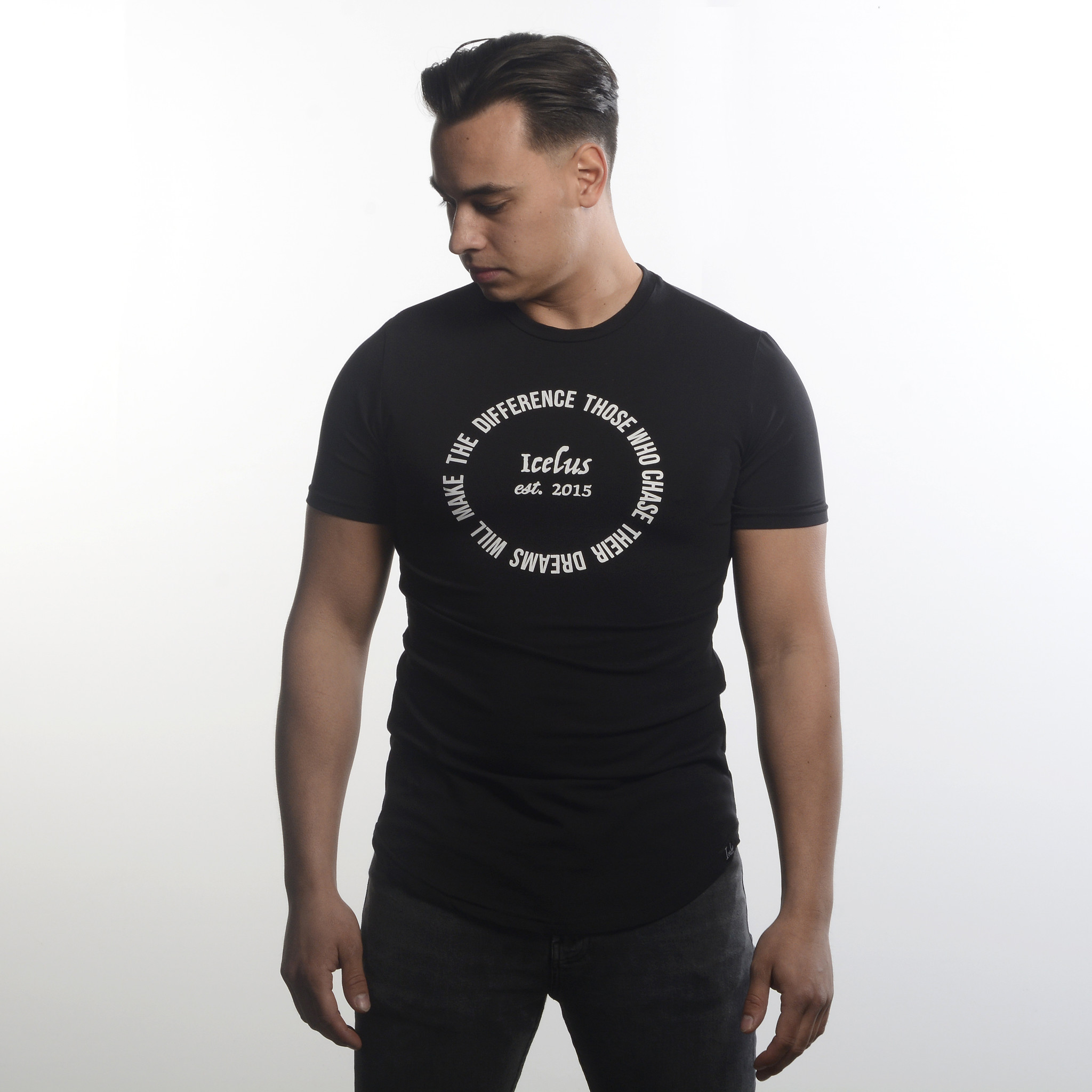 Icelus Clothing Circle Tee Black
