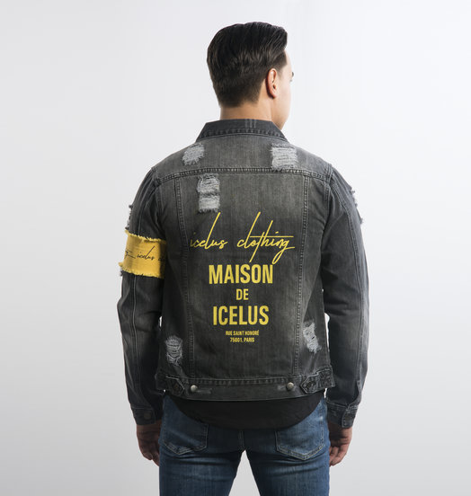 Icelus Clothing Jacket Grey Yellow