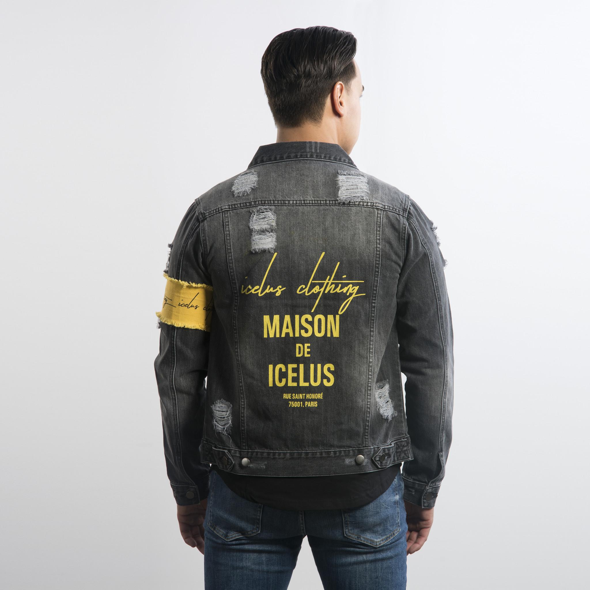 Icelus Clothing Jacket Grey Yellow