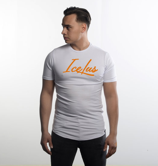 Icelus Clothing Icelus Series Orange on White