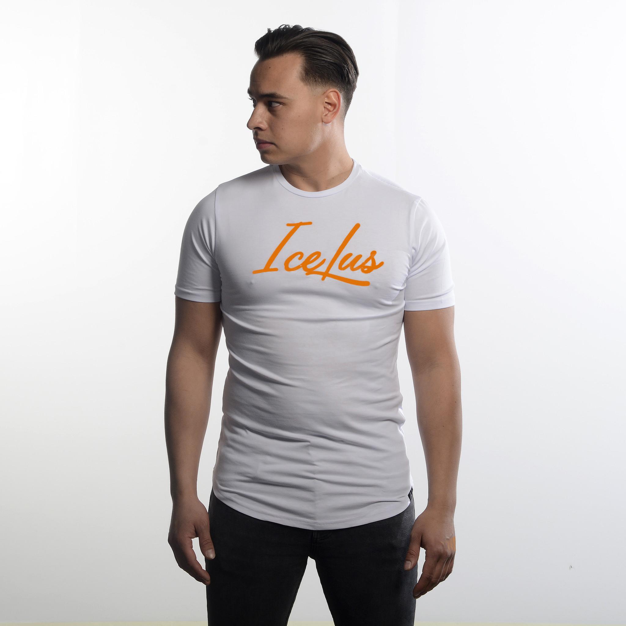 Icelus Clothing Icelus Series Orange on White