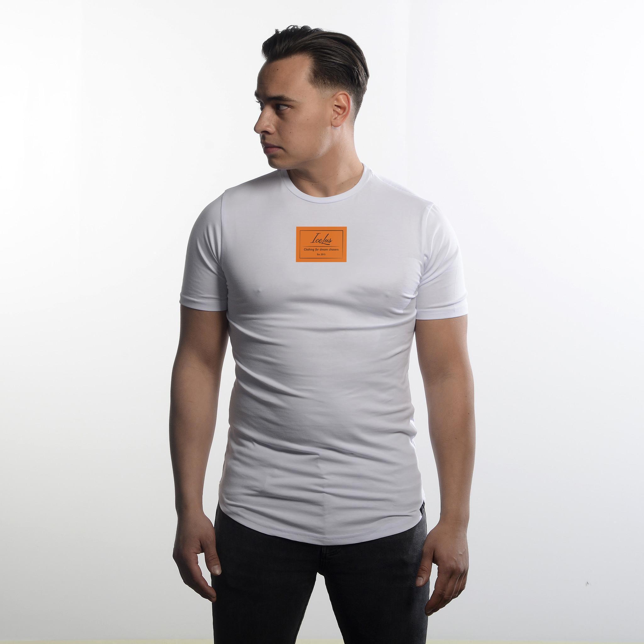 Icelus Clothing Logo Series Orange White