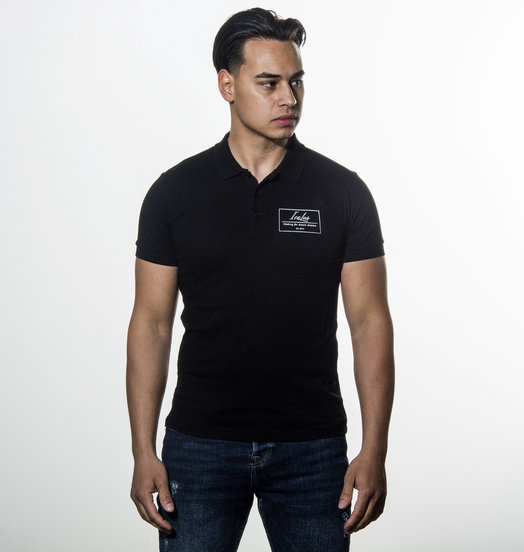 Icelus Clothing Polo T-shirt Black Logo