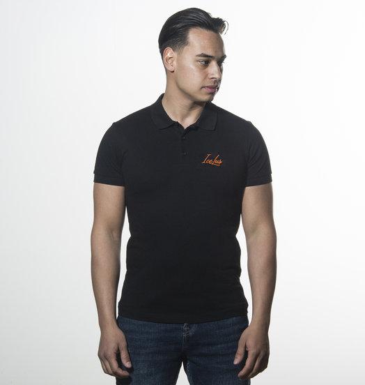Icelus Clothing Icelus Polo T-shirt Orange on Black