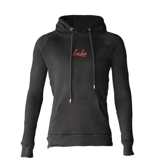 Icelus Hoodie Red on Black