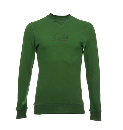 Icelus Sweater Black on Green