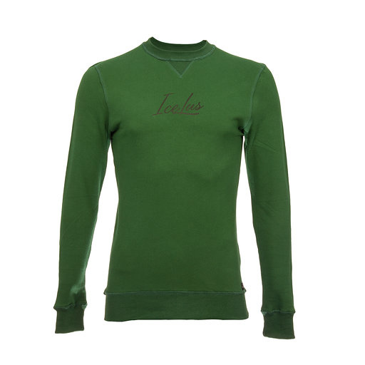 Icelus Sweater Black on Green