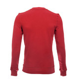 Icelus Sweater White on Red