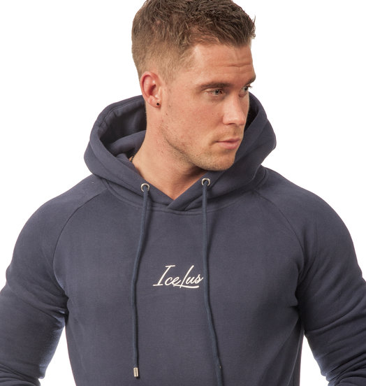 Icelus Hoodie White on Blue