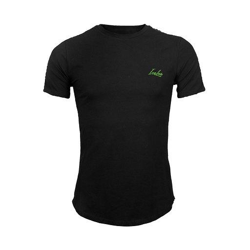 Icelus Clothing Icelus Chest Green on Black