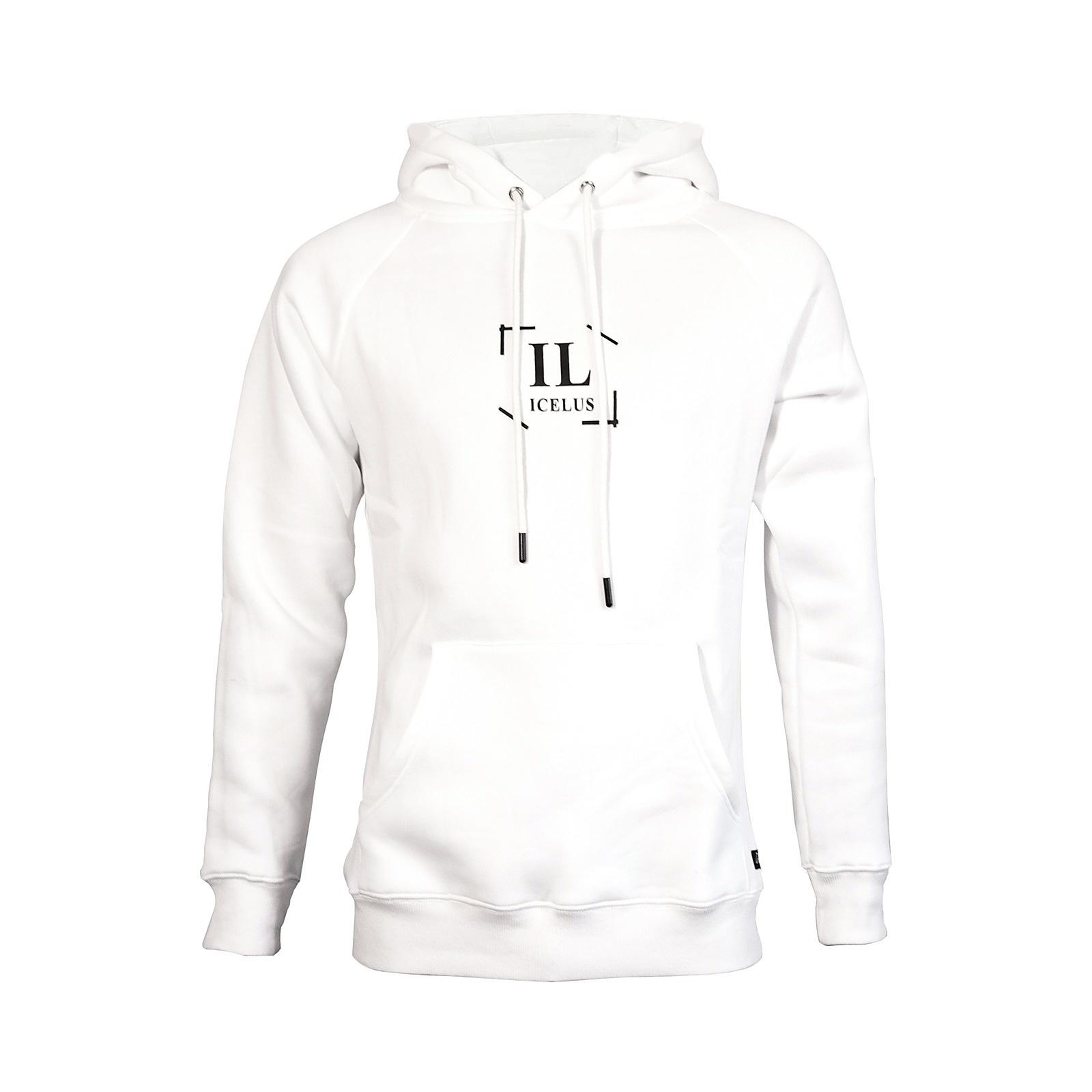 Icelus Clothing Hoodie Logo White