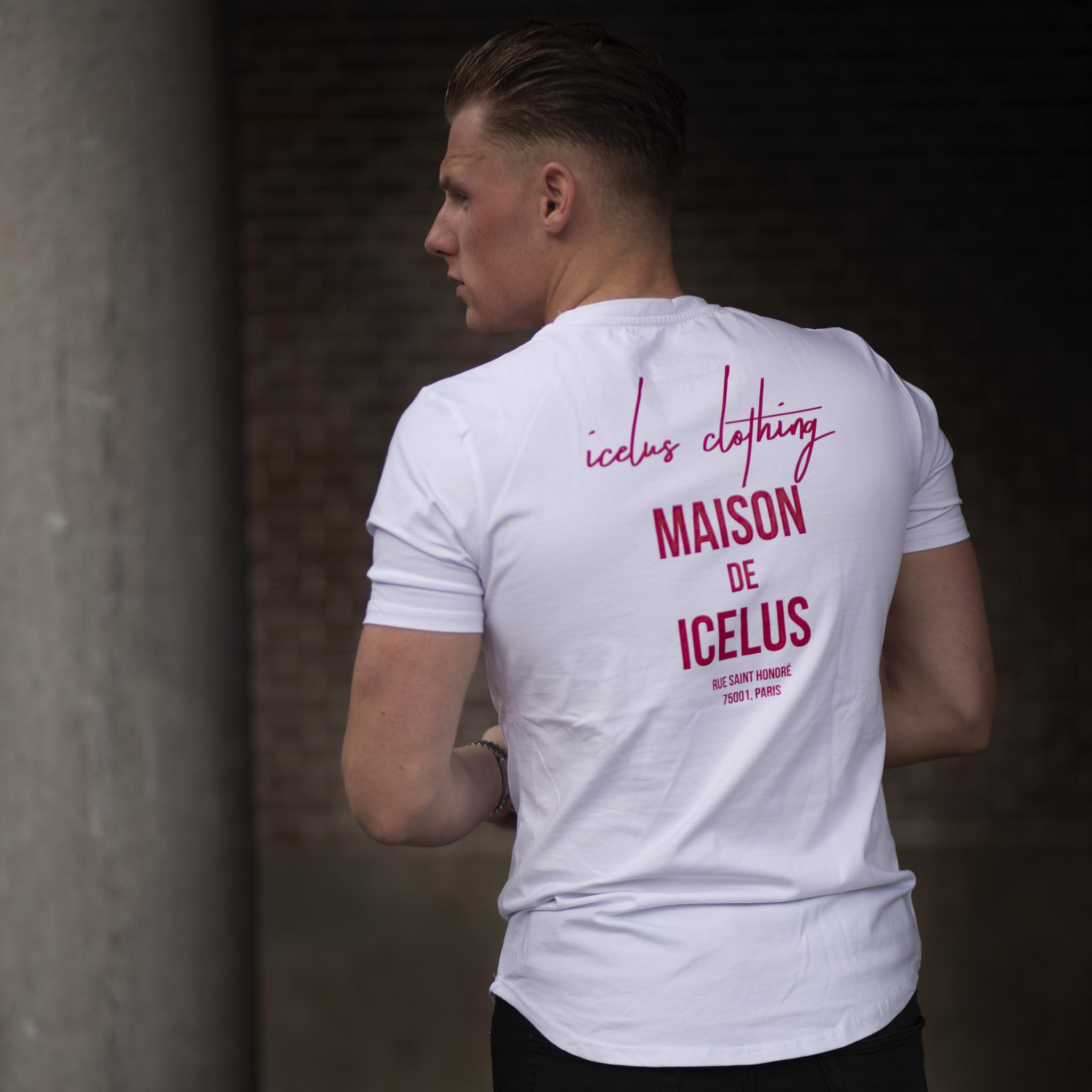 Icelus Clothing Maison Series Red on White